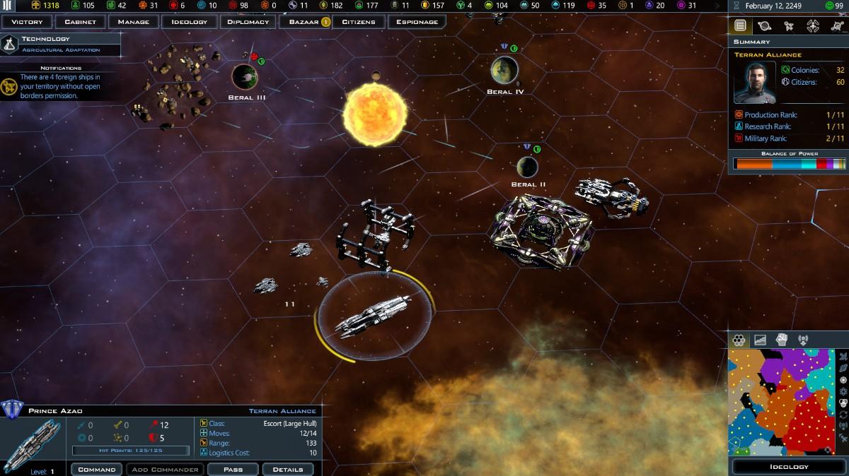 Galactic Civilizations III on Linux