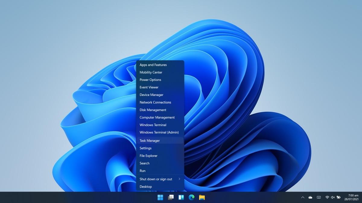 Task Manager on Windows 11 winX