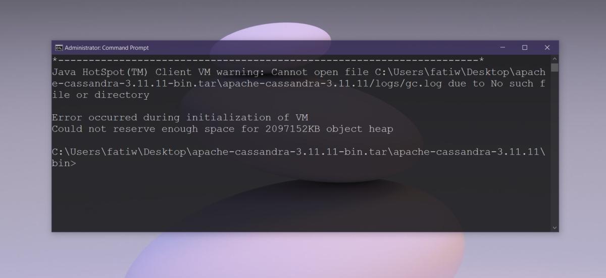 Java virtual machine error
