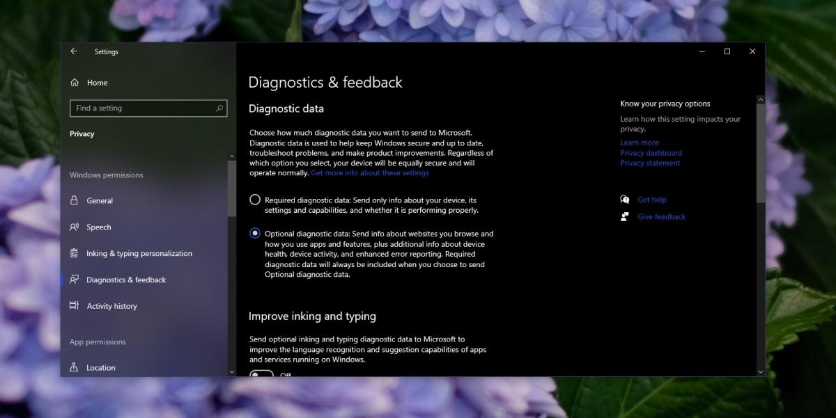 Windows telemetry settings