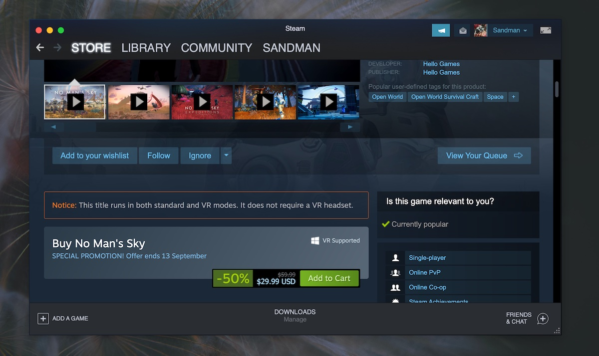 steam game sale