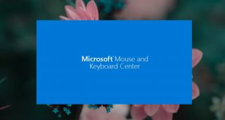 Microsoft Mouse and Keyboard Center