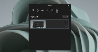 clipboard history on Windows 11