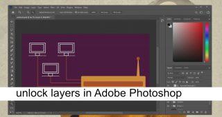 unlock layers in Adobe Photoshop